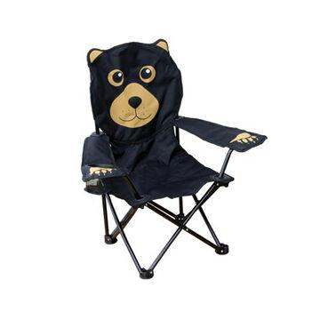 Wilcor Childrens Born To Explore Camp-Series Black Bear Chair