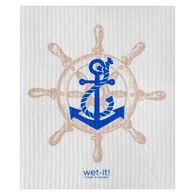Wet-it! Swedish Cloth - Sailors Wheel Navy