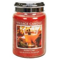 Village Candle Large Glass Jar Candle - Mulled Cider