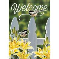 Carson Home Accents Flagtrends Chickadee Garden Gate Garden Flag