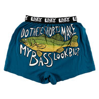 Lazy One Men's Check Out My Bass Boxer