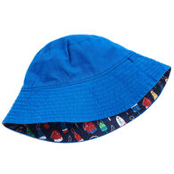 Hatley Boy's Distressed Buoys Reversible Sun Hat