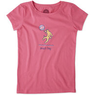 Life is Good Girls' Beach Day Crusher Short-Sleeve T-Shirt