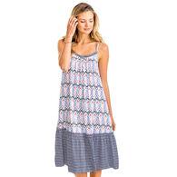 Southern Tide Women's Lorena Mixed Print Midi Dress