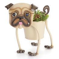 Georgetown Mini Painted Pug Garden Art Planter