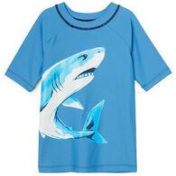 Hatley Boy's Deep Sea Shark Rashguard Short-Sleeve Top