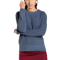 Toad&Co Women's Cambridge Cable Crew Sweater