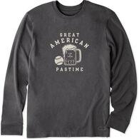 Life is Good Men's Beer Ball Crusher Long-Sleeve T-Shirt