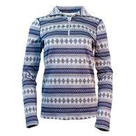 Purnell Women's Fair Isle Half Zip Sweater