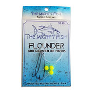 The Mighty Fish Tackle Company Yellow Bead Custom Flounder Rig - 3 Pk.