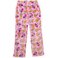 Candy Pink Girl's Sloth Pajama Pant