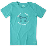 Life is Good Women's Wag World Crusher Short-Sleeve T-Shirt