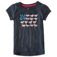 Carhartt Toddler Girls' Horse Flower Short-Sleeve T-Shirt