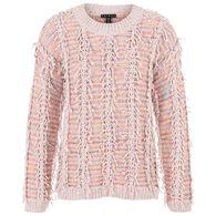 Tribal Women's Space Dye Fringe Sweater