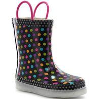 Western Chief Girls' Darling Dot Lighted Rain Boot