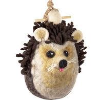 Wild Woolies Hedgehog Hand-Felted Birdhouse