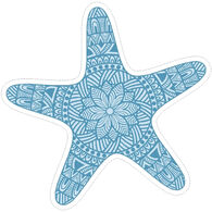 Sticker Cabana Starfish Design Sticker