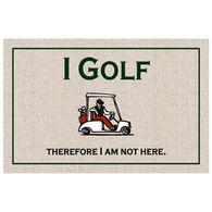 High Cotton Doormat - I Golf
