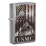 Zippo U.S. Marine Corps Street Chrome Windproof Lighter