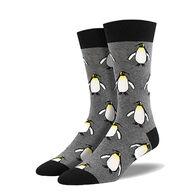 Socksmith Design Men's Coolest Emperor Penguin Crew Sock