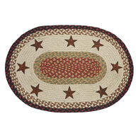 Capitol Earth Barn Stars Oval Patch Rug