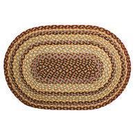 Capitol Earth Oval Burgundy/Gray/Cream Braided Rug