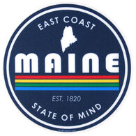 Blue 84 Prismatic Maine Sticker