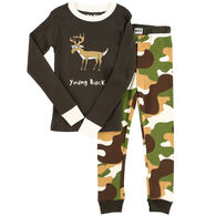 Lazy One Toddler Boy's Young Buck PJ Set