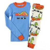 Lazy One Boys' Dino-Snore Pajama Set