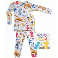 Books to Bed Dragons Love Tacos 2 - The Sequel Pajamas & Book Set