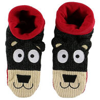 Lazy One Boy's & Girls' Bear Woodland Slipper Sock