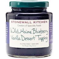 Stonewall Kitchen Wild Maine Blueberry Vanilla Dessert Topping, 12 oz.