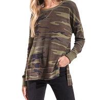 Z Supply Women's Emerson Camo Thermal Long-Sleeve Shirt