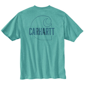 Carhartt Mens Big & Tall Loose Fit Heavyweight Carhartt C Graphic Short-Sleeve T-Shirt