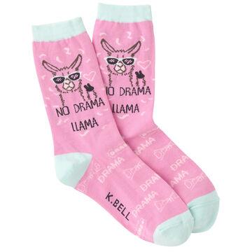 K. Bell Womens No Llama Drama Crew Sock