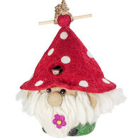 Wild Woolies Gnome Hand-Felted Birdhouse