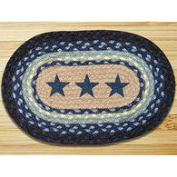 Capitol Earth Blue Stars Printed Oval Swatch Rug
