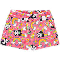 Candy Pink Girl's Panda Pajama Short