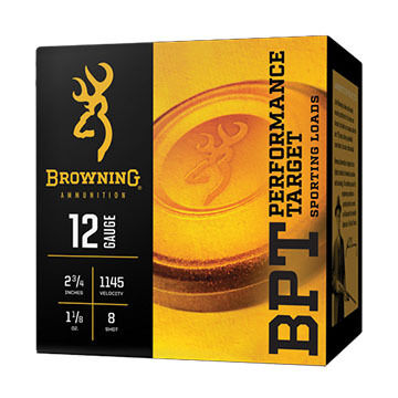 "Browning BPT Performance Target 12 GA 2-3/4"" 1-1/8 oz. #7.5 1300 FPS Shotshell Ammo (25)"
