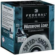 "Federal Speed-Shok Steel Waterfowl Load 12 GA 2-3/4"" 1-1/8 oz. #3 Shotshell Ammo (25)"