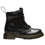Dr. Martens AirWair Toddler Girls' 1460 Black Coated Glitter Boot