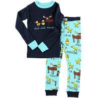 Lazy One Boy's Duck Duck Moose Blue PJ Set