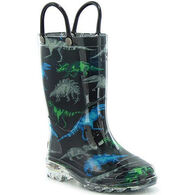 Western Chief Boys' Dinosaur Friends Lighted Rain Boot