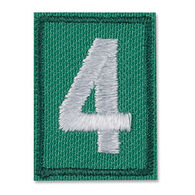 Girl Scouts Official Junior, Cadette, Senior and Ambassador Iron-On Troop Numeral