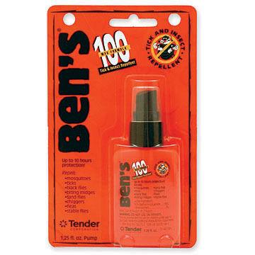 Ben's 100 Max DEET Tick & Insect Repellent Spray - 0.5-3.4 oz.