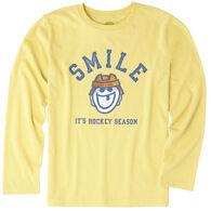 Life is Good Boys' It's Hockey Season Long-Sleeve Cool T-Shirt