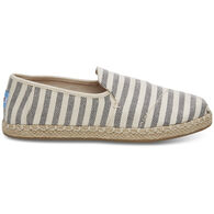 TOMS Women's Woven Stripe Deconstructed Alpargarta Shoe