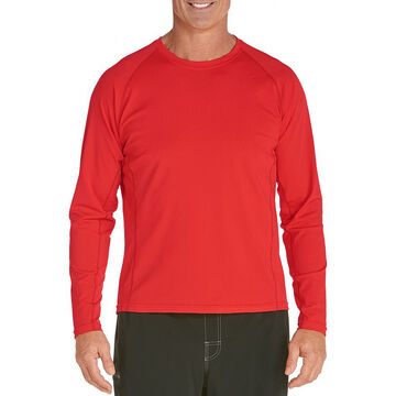 Coolibar Mens UPF 50+ Long-Sleeve Swim Shirt