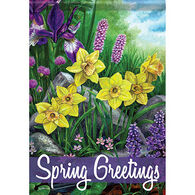 Carson Home Accents Flagtrends Spring Greetings Garden Flag