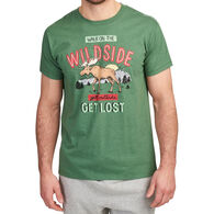 Hatley Little Blue House Men's Vintage Moose Walk On The Wild Side Short-Sleeve Sleep T-Shirt